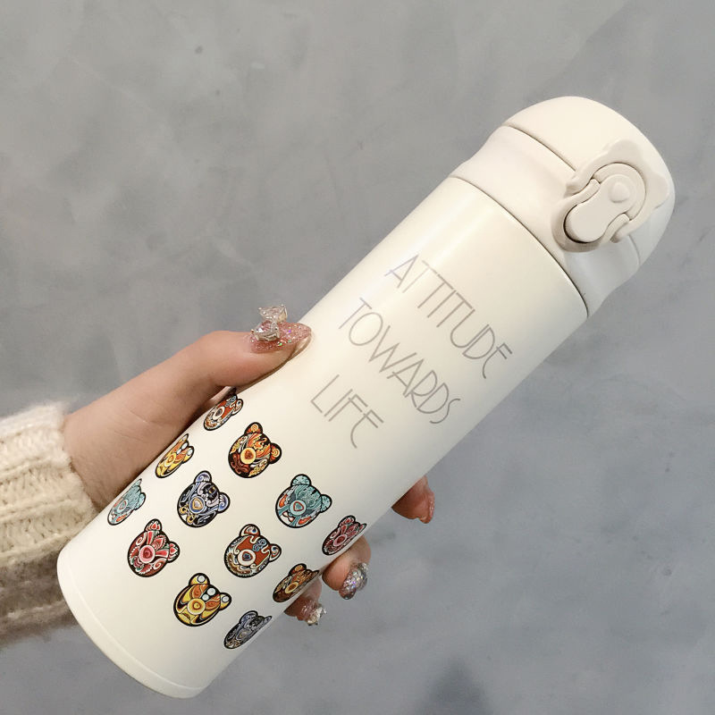 beddybear杯具熊保温杯韩国正品女学生杯子便携弹跳盖车载水淘宝优惠券