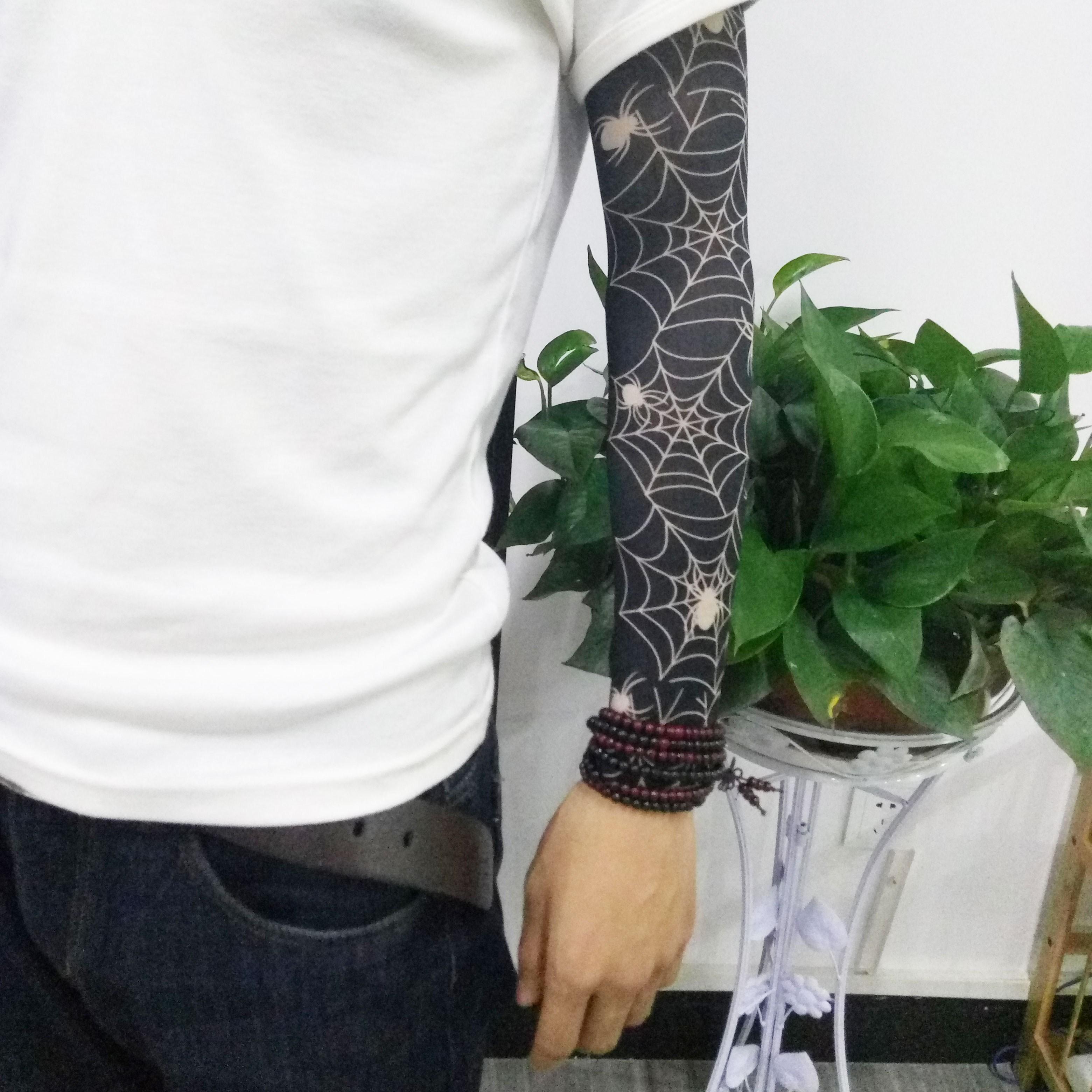 无缝骑行遮盖花纹装备男士纹身袖套(非品牌)