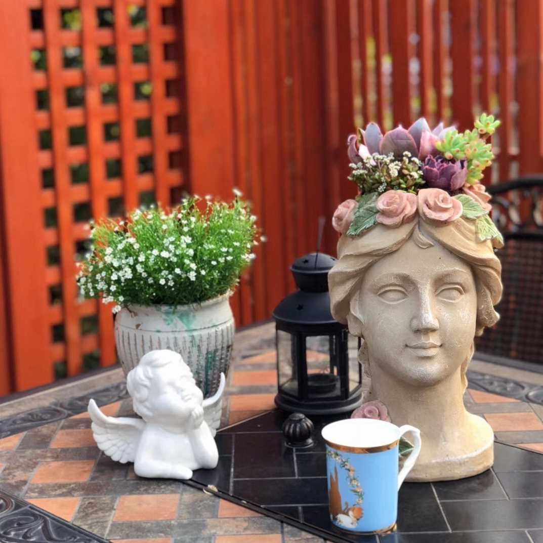 American Vintage wreath girl flowerpot hydroponic green plant decoration garden home window Vase Decoration