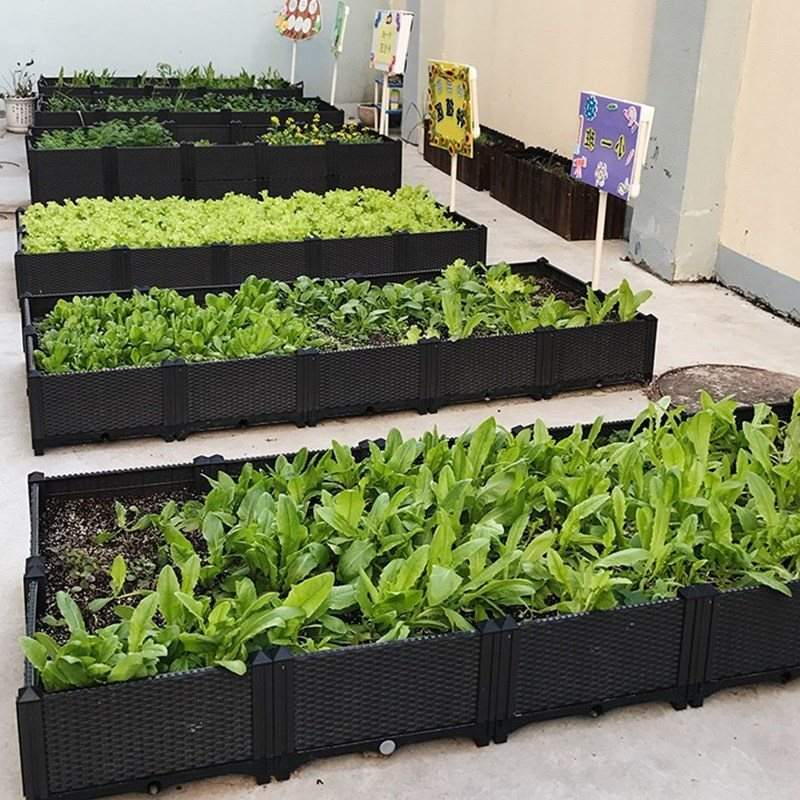 Roof exposed equipment roof garden in family small plantation indoor vegetable balcony large plastic flower trough box