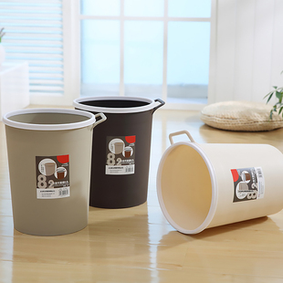 brukner垃圾桶筒塑料可爱创意厨房客厅卧室卫生间无盖纸篓小号