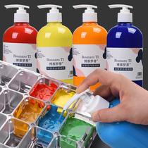 丙烯颜料500ml大瓶按压式丙烯颜料大桶装批发画室手绘DIY绘画颜料儿童彩绘涂鸦画画美术颜料丙烯颜料墙绘专用