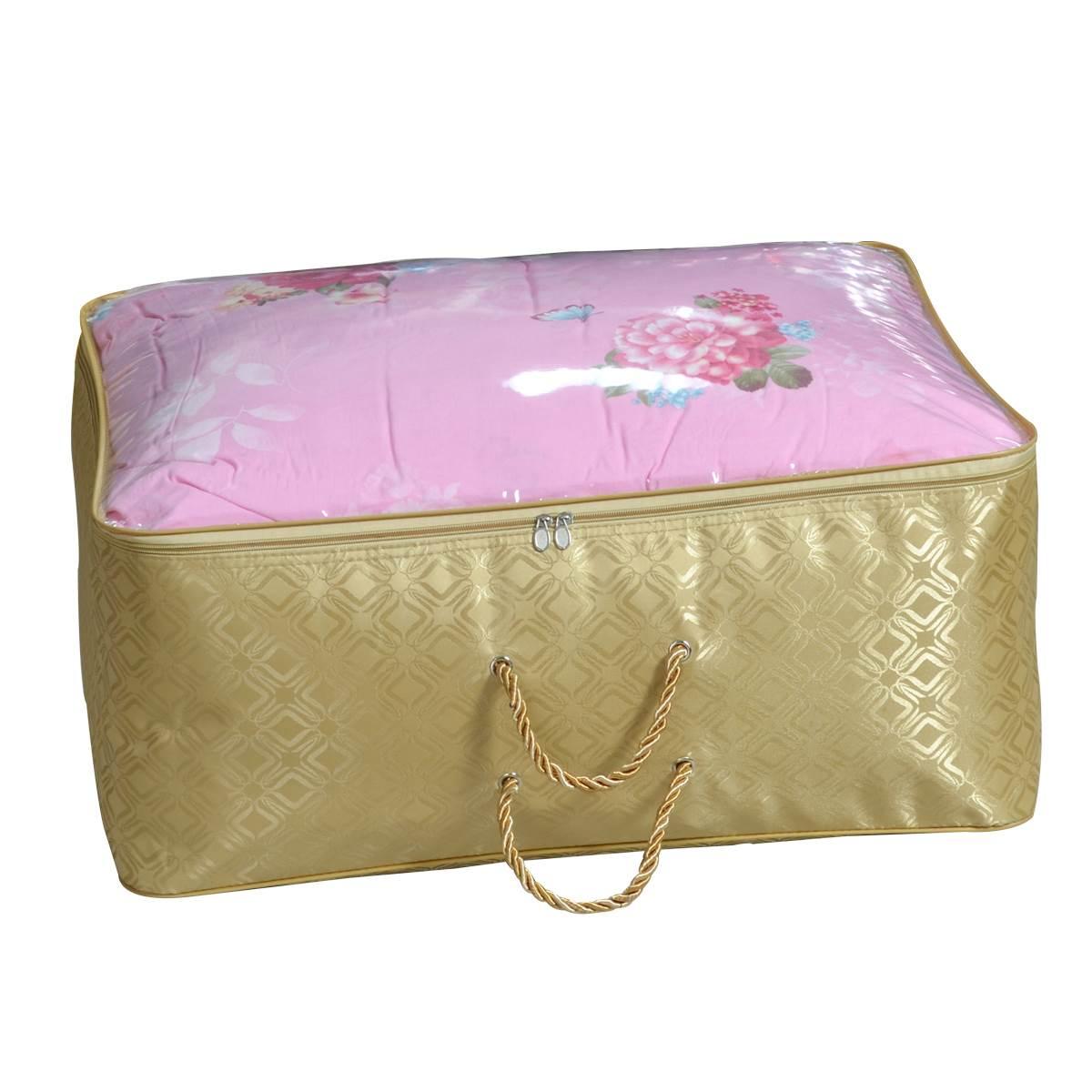 热钢丝支撑加厚牛津布搬家袋棉被收纳袋 单面透明窗防水袋新