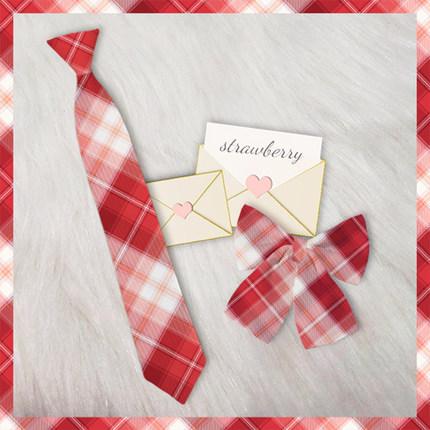 【向阳兔JK】草莓叨叨 同格小物合集 兔耳领结领带JK制服领部配饰