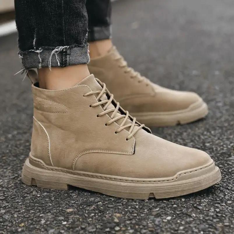 韩国装增高马丁靴柔软皮革真厂家出手9代战狼鞋耐穿减震防磨宗越