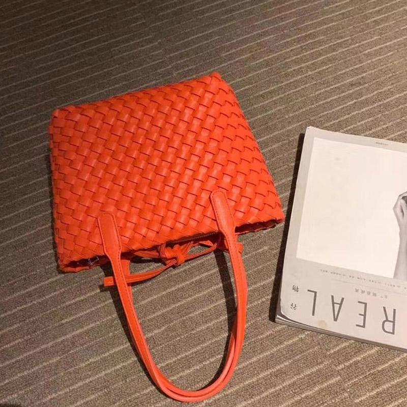 日本复古手袋手工编织手拎包包女休闲手提包旅行单肩包大容量子母