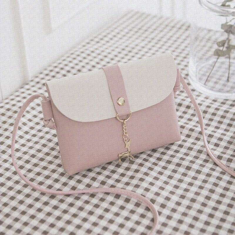 Small shoulder bag womens bag Single Shoulder Messenger Bag womens 2018 new bag fashion comfortable single small bag solid color light