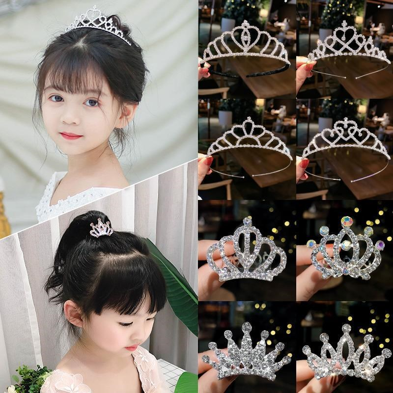 Girls crown headdress childrens Princess Little crown hairpin hairpin baby hairpin babys first birthday hairpin