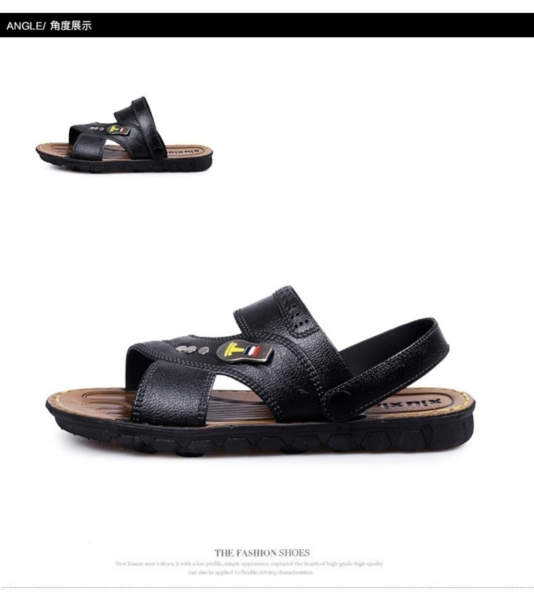 Chinese 38 large size new wear-resistant 40 mens beach shoes two sandals a business dad plastic cool