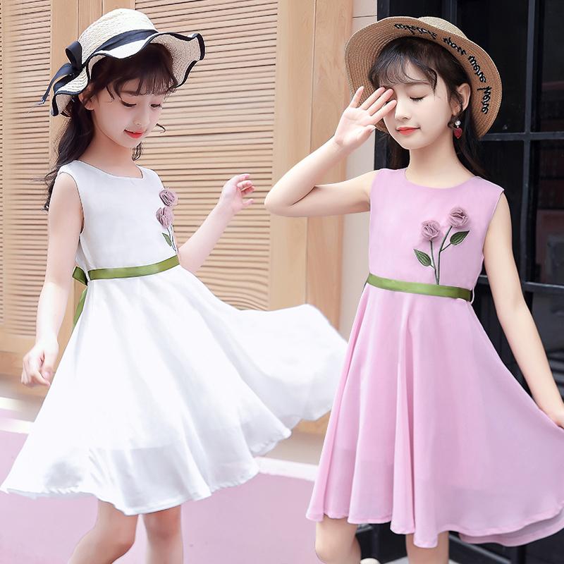 女童连衣裙夏装洋气7夏天公主裙子热销0件假一赔三