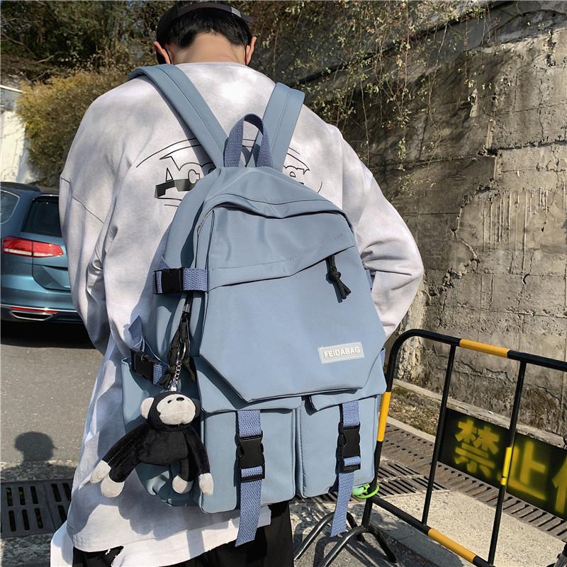 书包男韩版大学生高中生大容量初中生潮流双肩包背包女ins电脑包