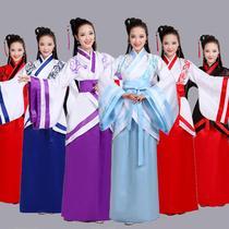 汉服女超仙古装大袖衫18-20-25-40岁成人大码胖mm200斤襦裙表演服