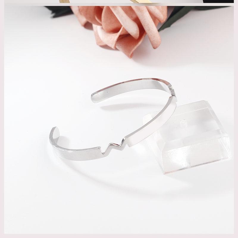 情侣手镯一对男女士玫瑰金年轻款生日礼物银手环镯子dw