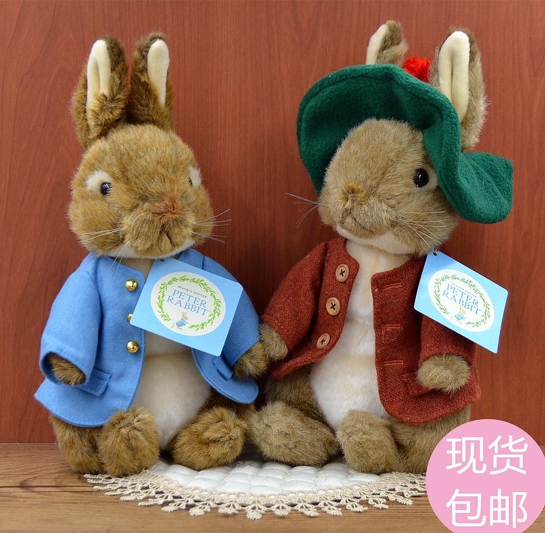 ter rabbit 兔子毛绒日本正品彼得兔公仔pe具布娃娃玩偶抱枕