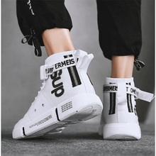 Fall 2019 New High-Up Sports Leisure Shoes Korean Version Shoes Men's Canvas Board Shoes Fashion Men's Shoes