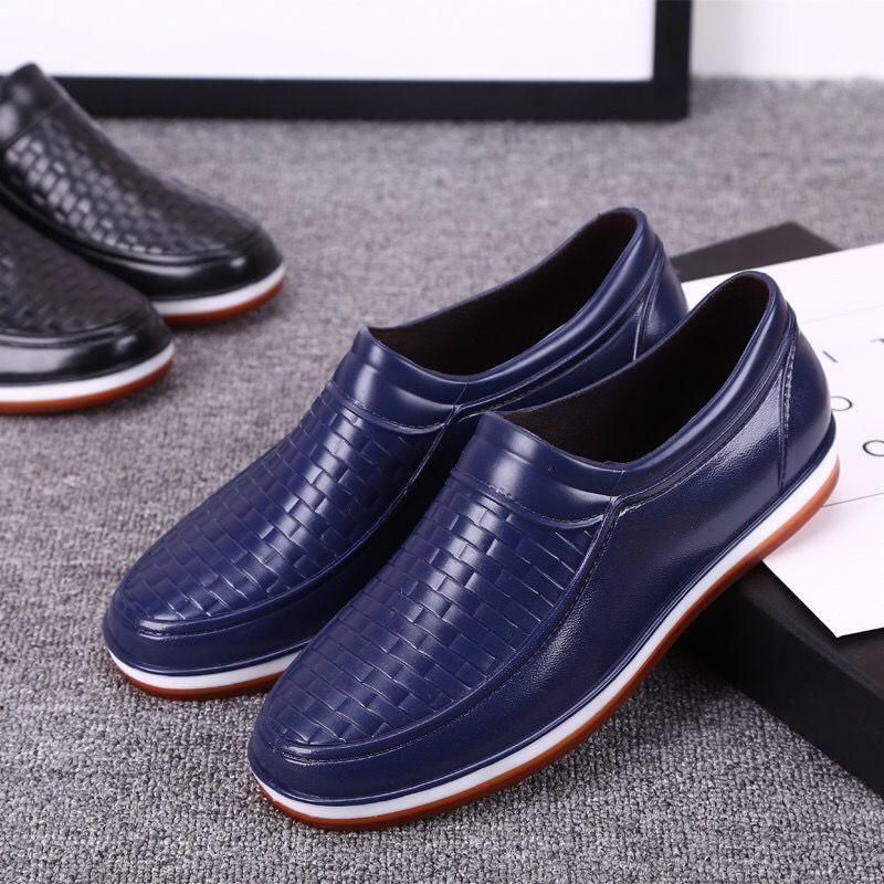 【】雨鞋男低帮加绒防滑胶鞋男士雨靴水鞋冬季时尚厨房工作鞋