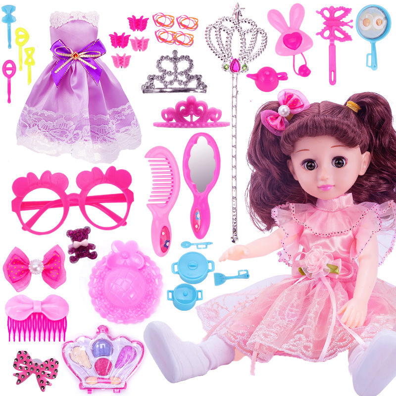Talking smart Xinlei Barbie Doll Girl Child simulation suit girl toy Princess single cloth