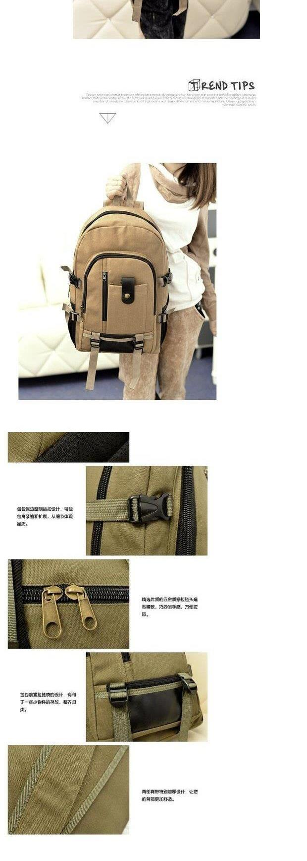Chinese students medium-sized clothing Youth Travel Bag Backpack backpack mens fashion trend backpack soft face large capacity fabric