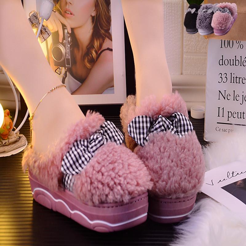 厚底冬季高跟室外可爱韩版棉拖鞋