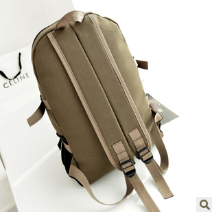 South Korea backpack soft top large capacity cloth mens bag double shoulder bag mens fashion trend Medium Sized Clothing Youth Travel
