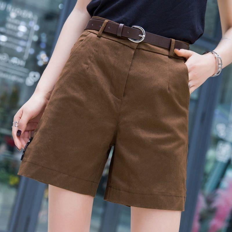 2020 New Summer Shorts womens wide leg high waisted Capris womens loose large slim casual quarter pants