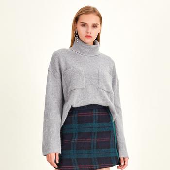 【奥莱特价】冬季不规则兔毛针织衫