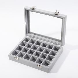 首饰盒耳环收纳盒简约大容量项链耳钉戒指放饰品盒子展示架ins风图片