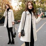 女毛呢外套中长款秋冬季韩版加厚2020新款今年流行小个子呢子大衣