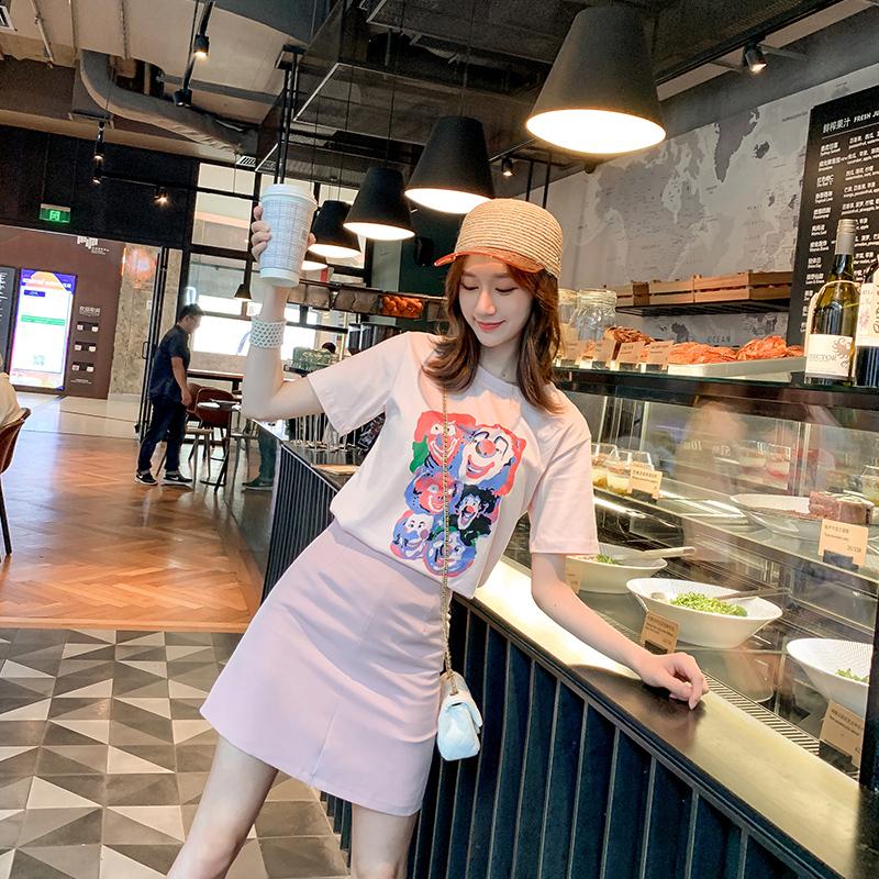 轻季夏季装2019少女短袖T恤套装女a字短裙两件套12月01日最新优惠