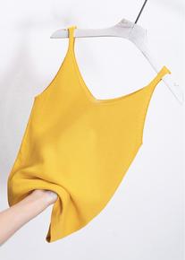 夏季吊带背心女外穿上衣打底衫内搭v领无袖针织小背心网红黑色潮
