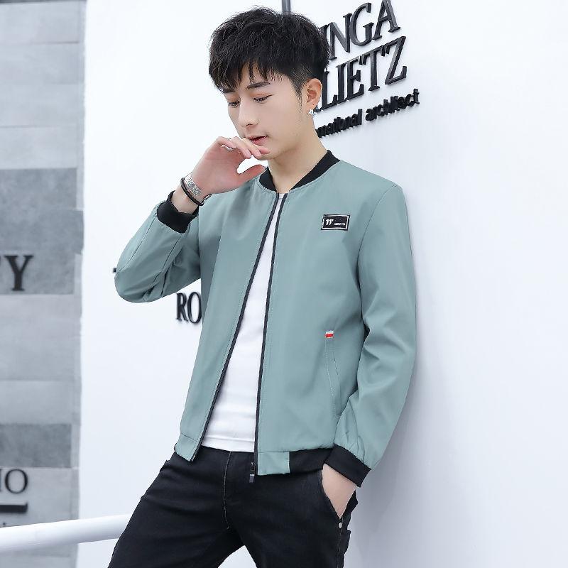 Spring mens wear mens jacket mens 2021 spring new Korean student youth slim fit mens clothes