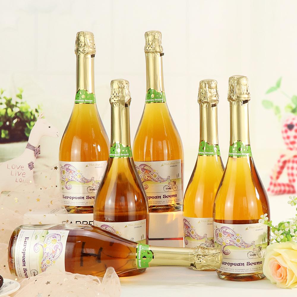 西班牙葡乐思甜型无酒精起泡酒无醇白香槟酒气泡酒0度脱醇葡萄酒