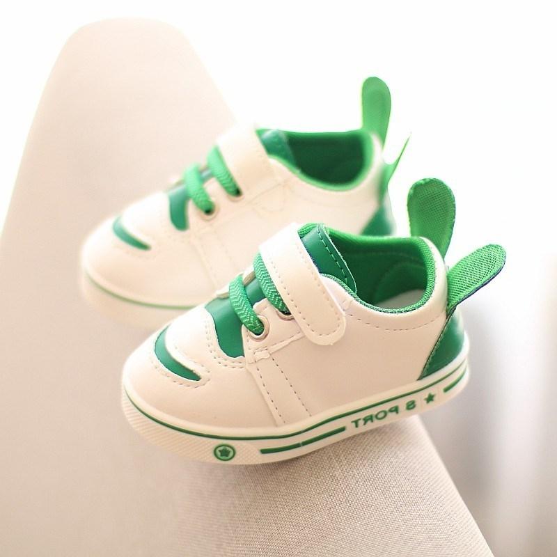 小孩子白鞋0-1岁半男2宝宝6婴儿7学步皮鞋8个月防水9女孩10秋季11,可领取2元天猫优惠券