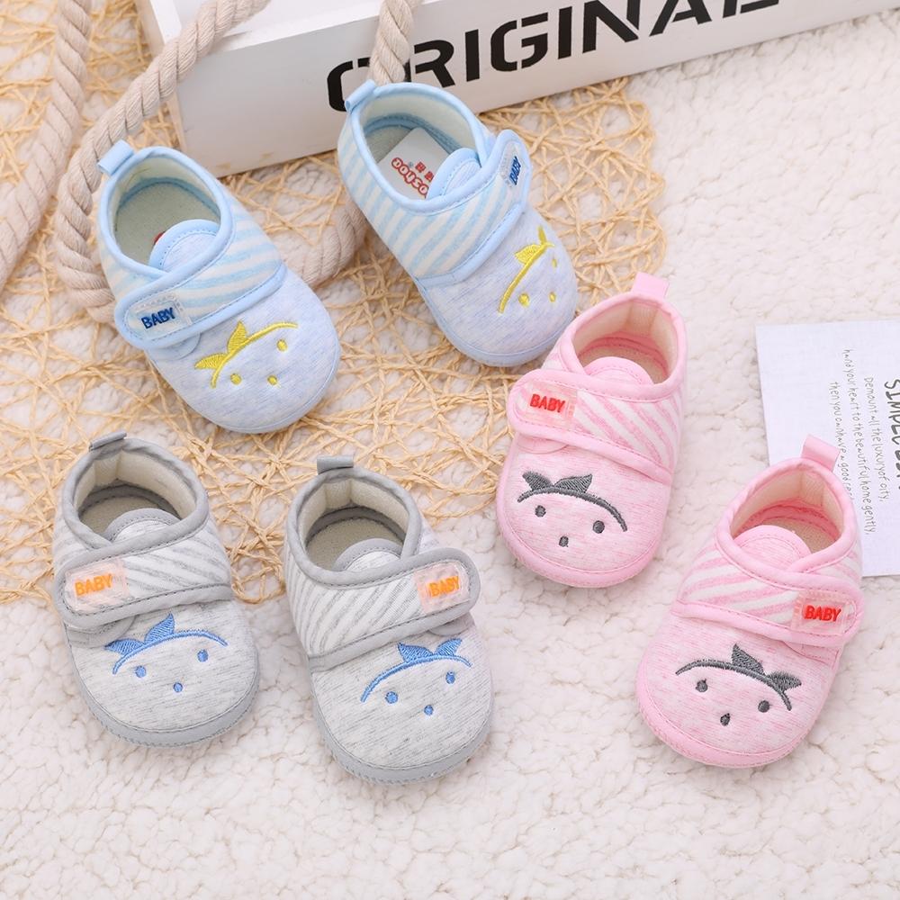 潮婴儿鞋子软底学步0一1岁男女宝宝鞋春秋3-6-8个月新生儿透气单,可领取1元天猫优惠券