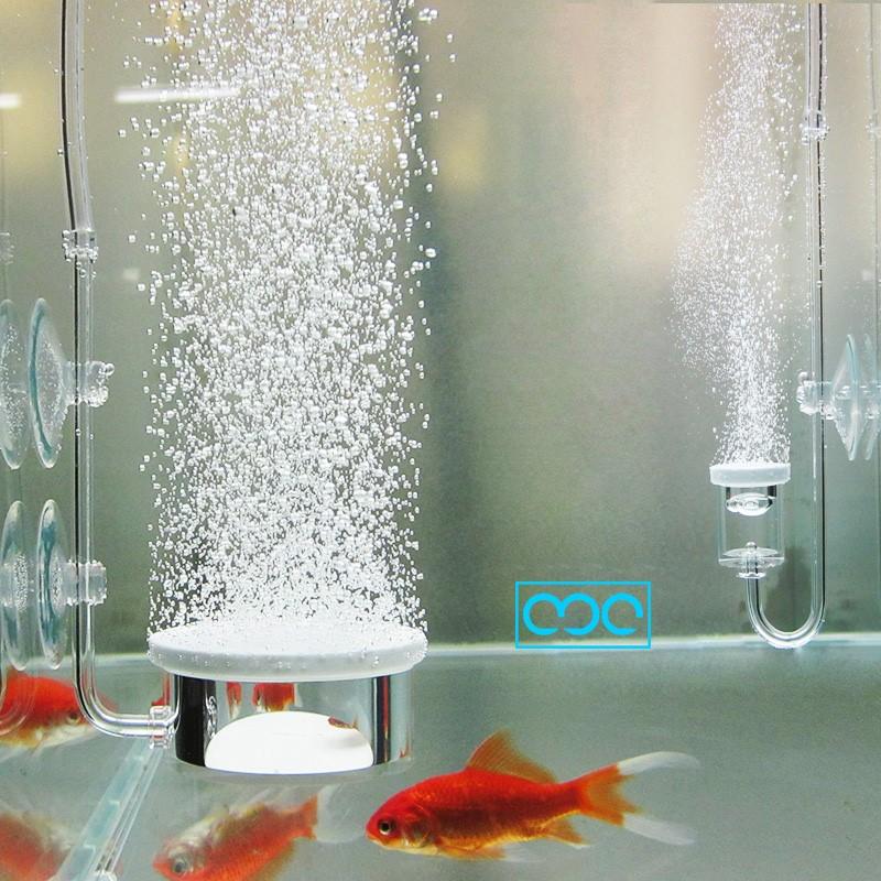 养鱼氧气泵增氧泵充氧机空气细化器静音纳米气盘气泡石鱼缸气泡盘