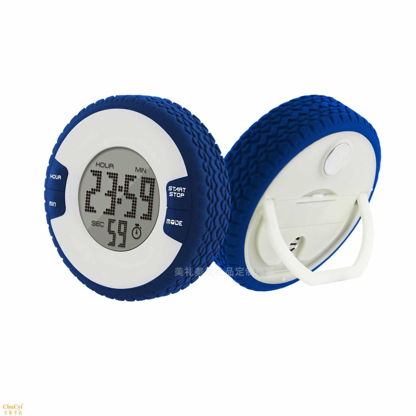 タイヤタイマーの数字が表示されています。カウントダウン目覚まし時計が学生用の円形シリコン時計の電子タイマーがカスタマイズされています。