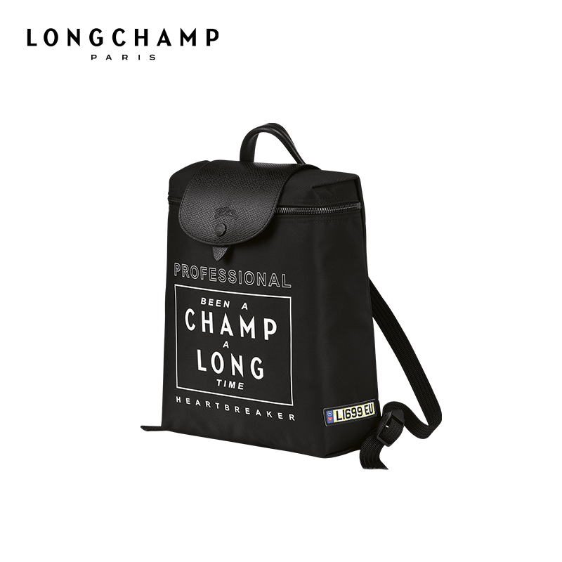 Longchamp X EU Joint series series 骧 骧 女 经 classic backpack shoulder bag Wang Ziwen with paragraph