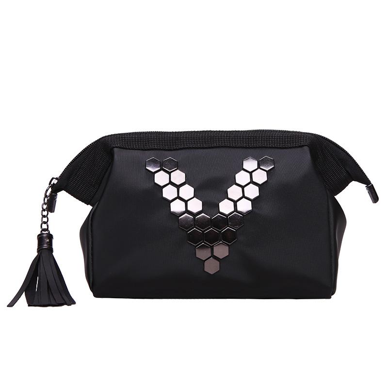防水纯色韩国小号便携大容量化妆袋(非品牌)