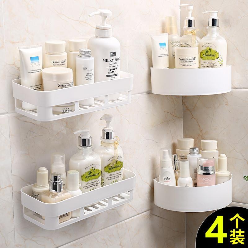 转角家用洗手间牙膏牙刷杯子置物架放的架子卫生间厕所浴室无痕贴,可领取1元天猫优惠券