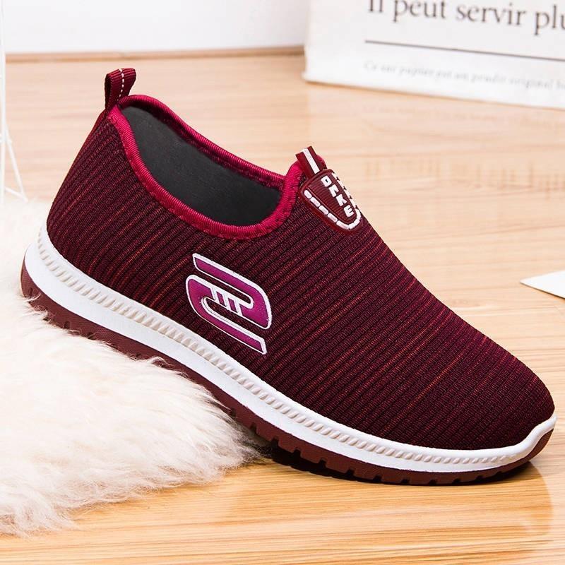 老北京布鞋女春秋单鞋防滑软底舒适健步老人鞋一脚蹬中老年妈妈鞋