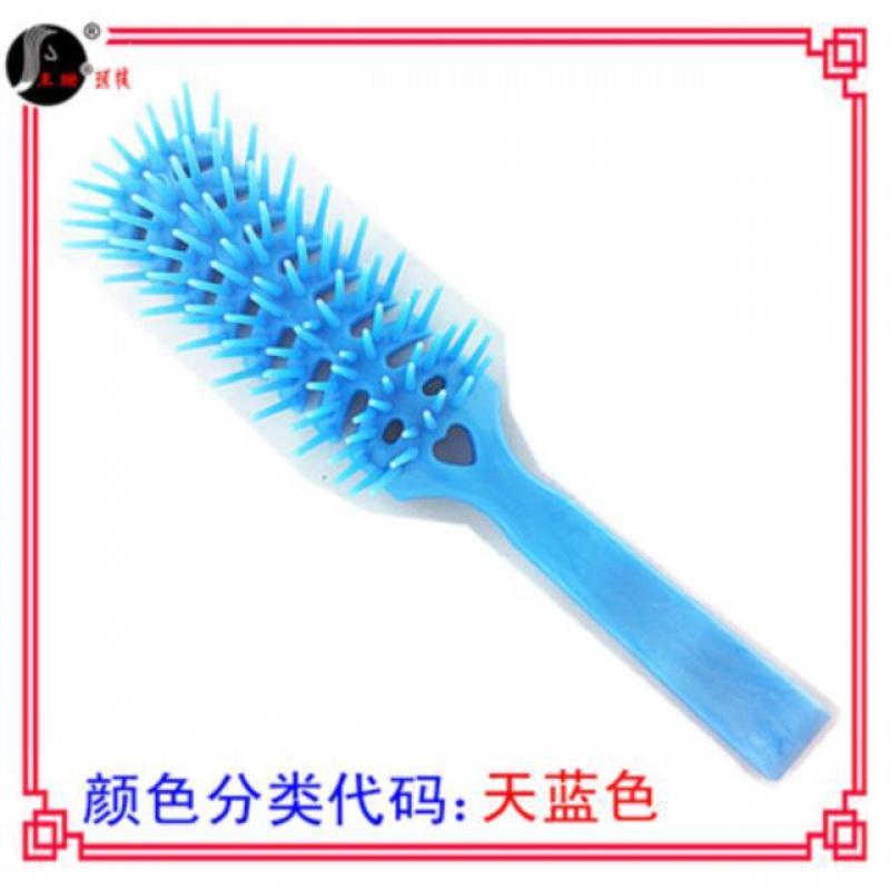 新品黑塑料梳z梳头古老卷发梳多齿造型梳i子硬齿彩排排骨假发按