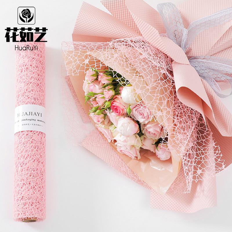 花茹芸韓国式トーチネットの生花の包装の花束の材料の紗のバラの花束の包装の網のガーゼのネット
