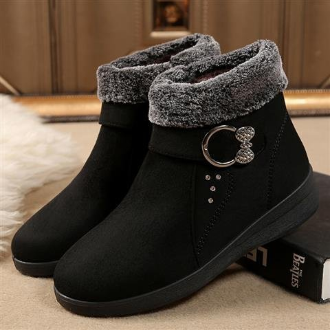 New 2020 winter fashion boots womens shoes fashion boots artificial short plush flat heel short sleeve fashion warmth
