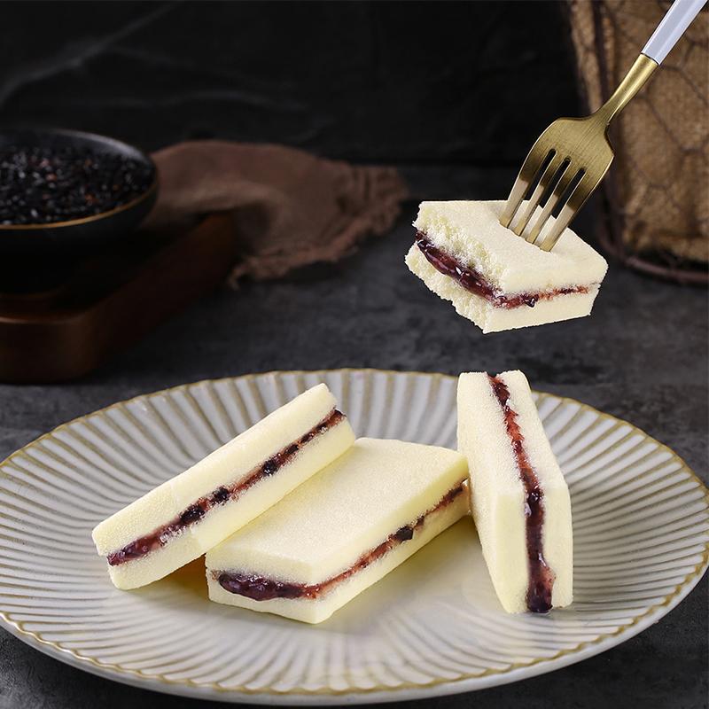 紫米小口袋蒸蛋糕营养早餐休闲零食品小吃零食面包整箱限时2件3折