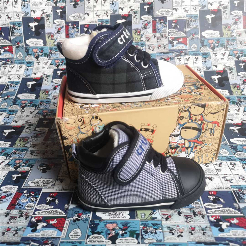 [bangpula discount store] Carter Tu autumn and winter two-stage baby high top board shoes childrens walking shoes 1-6 years old