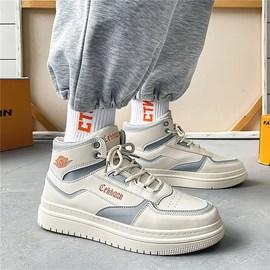 冬季男鞋秋季高幫小白潮鞋韓版潮流休閑運動籃球板鞋棉鞋保暖加絨圖片