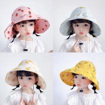 儿童帽子夏季薄款大帽檐防晒遮阳帽宝宝空顶时尚女童公主太阳帽潮