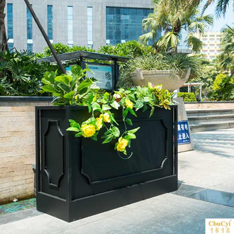 户外花箱商业街花坛房地产花槽隔断围栏组合种植箱花器花池花架筒