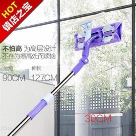 动扣擦玻璃器伸缩杆双层擦窗神器玻璃刷刮i搽高楼清洁清洗窗户工