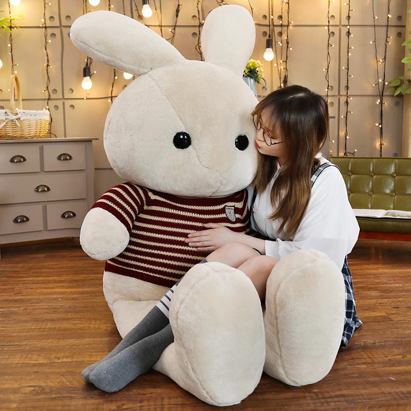 美国大兔子毛绒玩具公仔兔兔抱枕